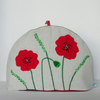 Small Tea Cosy with Red Flowers