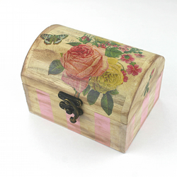 Wooden box, Small size, Vintage style, Keepsake, Trinket, Jewellery, Recipe box