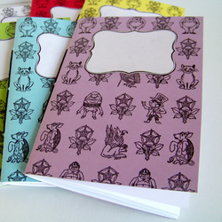 White Alice in Wonderland Characters Notebook