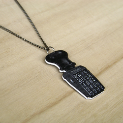 Rubber Stamp Necklace