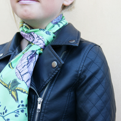Willam Print Silk Scarf