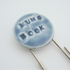 'Mum's Book' Extra Long Paper Clip Porcelain Bookmark