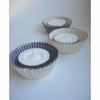 Blue Ceramic Cupcake candle holders