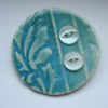 Green Porcelain Brooch