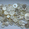 White, brown or gold & silver buttons