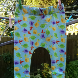9-12M - Bird Harem Pants (Blue and Multicoloured)