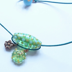 Spring Green Trapeze Necklace