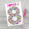 Personalised 4th 5th 6th 7th 8th 9th 10th Birthday Card