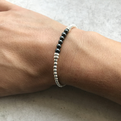 Sterling silver and Hematite Bracelet