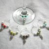 Wine Glass Charms with Decorative Leaf 03
