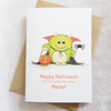 Happy Halloween Little Monster Card - Personalised Halloween Card