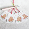 Gingerbread Men & Gingerbread House Christmas Gift Tags - set of 4 gift tags