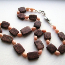 Coco Jasper and Coral Necklace