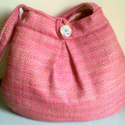 Pretty pink and gold bag