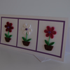 HANDMADE QUILLED POTS OF FLOWERS IN A FRAME