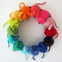 Rainbow Mouse Pattern