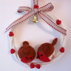 Needlefelt Robin Wreath