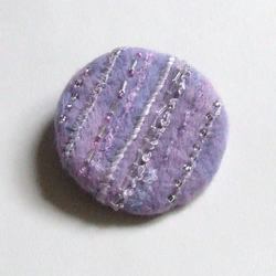 Purple needle felted brooch