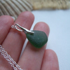 Scottish sea glass necklace, petite necklace beach glass, green sea glass