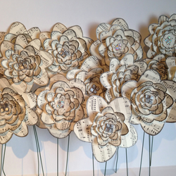 10x handmade wedding table decorations music folksy 10x handmade wedding table decorations music theme paper flowers ivory junglespirit Image collections