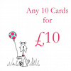 Any 10 cards for £10