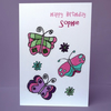 personalised butterfly birthday card