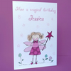 personalised fairy birthday card