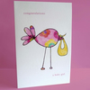 Colourful Baby Girl card