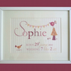 Personalised baby girl keepsake print