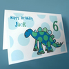 personalised dinosaur birthday card