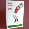personalised boys football card