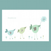little birds thankyou card