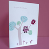 little owl birthday card