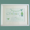 Personalised baby boy keepsake print