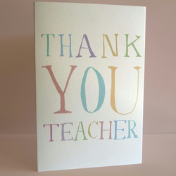 thankyou teacher card