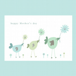 Mother's day 3 little birds card