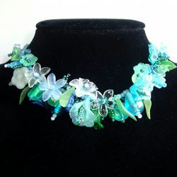 Turquoise Sea Blossom Necklace