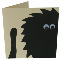 Black Cat- children's blank card