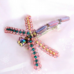purple haze dragonfly hairclip