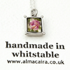 Vintage China Rose  Box Pendant