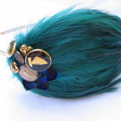 Teal Feather Headpiece