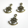Charm / Drop Antique Bronze Anchor - 2pcs