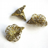 Antique Bronze Filigree Bead Cap