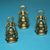bronze plated lamps - charms  - 2pcs