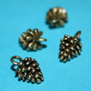 antique bronze pine-cones - 2pcs