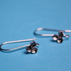 Earhooks / earwires  with flower - 1pair