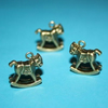 bronze plated horse charms- 2pcs