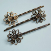 Bobby pin with filigree pad  10pcs