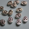 Metal oval bead with a girl - 2pcs