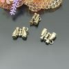 bronze plated charm - 2pcs